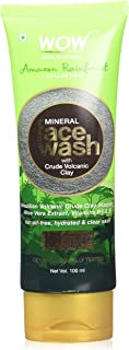 WOW Amazon Rainforest Collection - Mineral Face Wash with Crude Volcanic Clay - No Parabens, Sulphate, Silicones and Colo...