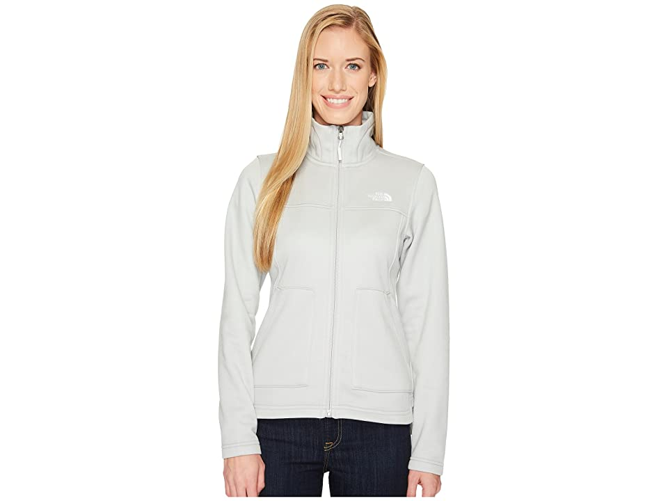 The North Face Wakerly Full Zip (High Rise Grey Heather/TNF White) Women