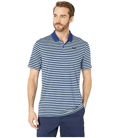 Nike Golf Dri-FITtm Mini-Stripe Victory Polo (Blue Void/Indigo Fog/Black) Men
