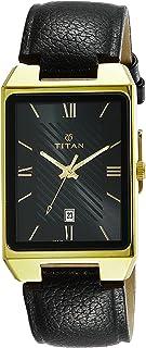 ساعة كاريشما انالوج من تيتان بمينا اسود للنساء