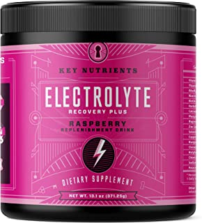 Electrolyte Powder, Raspberry Hydration Supplement: 90 Servings, Carb, Calorie & Sugar Free, Delicious Keto Replenishment ...
