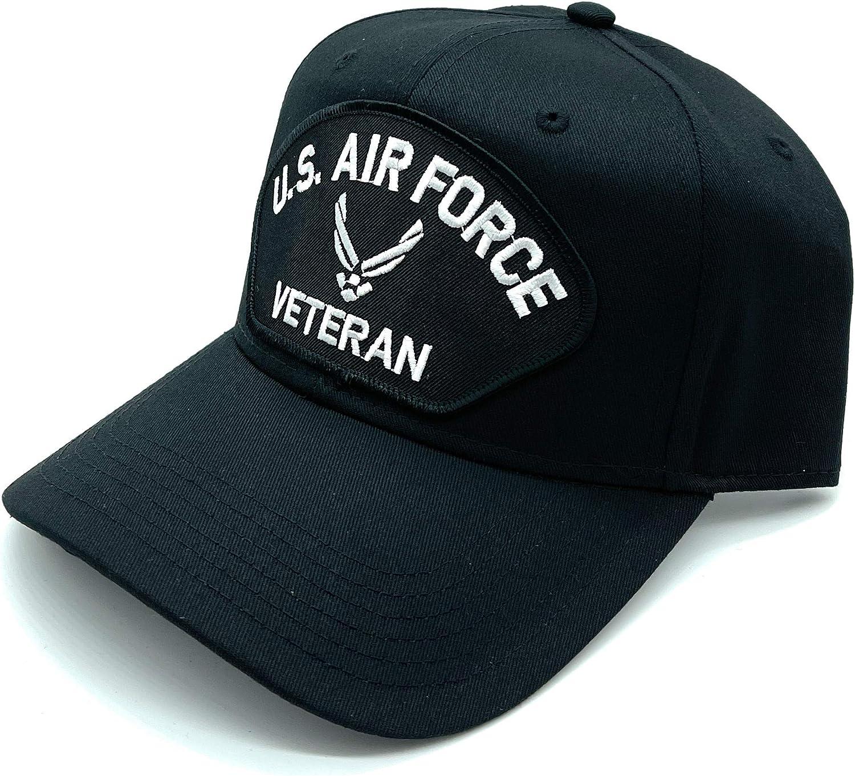 Infinite Hats US Air Force Veteran Silver Patch Adjustable Baseball Cap