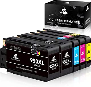 IKONG Compatible Ink Cartridge Replacement for HP 950 951 950XL 951XL Combo Works with HP OfficeJet Pro 8610 8600 8620 8630 8100 8625 8615 8660 8640 251DW 276DW 271DW(5-Pack)