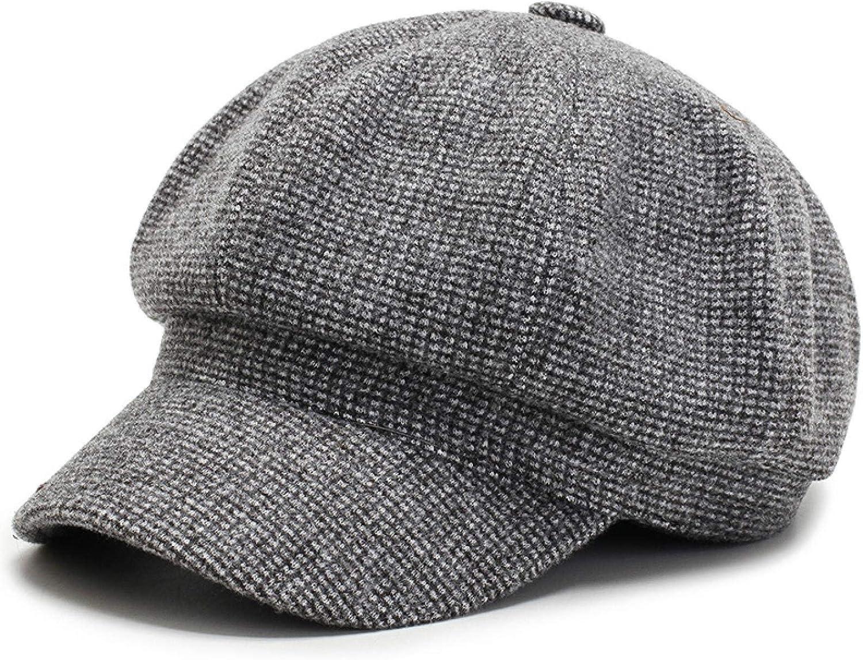 BENHAI Octagonal Beret Autumn Winter Summer British Retro Newspaper Children's Hat Versatile Fur