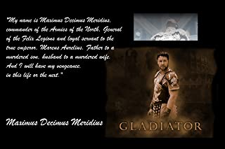 XXL Poster 20X30 The Gladiator Russell Crow My Name Is Maximus Decimus Meridius, Commander Of The Armies Of The North