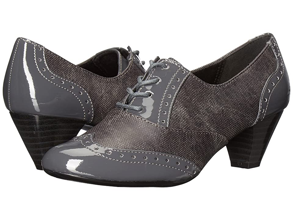 Soft Style Gianna (Dark Grey Faux Tweed/Patent) High Heels