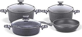 Homemaker Granitec 7 Pcs Cookware Set - Gray