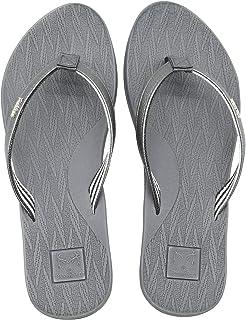 Chanclas Mujer Comodas Piel Verano Playa Piscina Ultraligera Sandalias de Dedo Planas Moda Caminar Antideslizante Yoga-Espuma Zapatillas