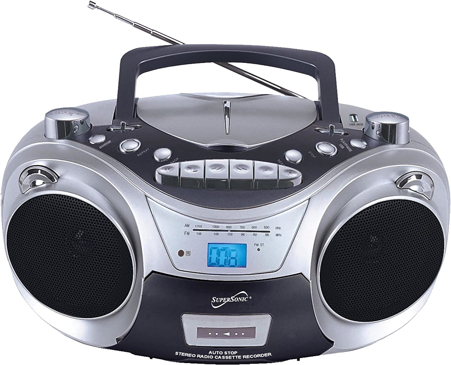 Supersonic SC709CD CD Boombox with Cassete Cheap bargain Player and Ranking TOP16 MP3