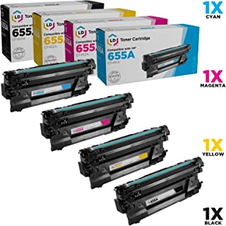 LD Compatible Toner Cartridge Replacements for HP 655A (Black, Cyan, Magenta, Yellow, 4-Pack)