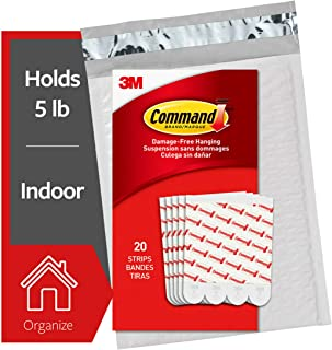 Command Large Replacement Strips for Indoor Hooks, 20 Strips