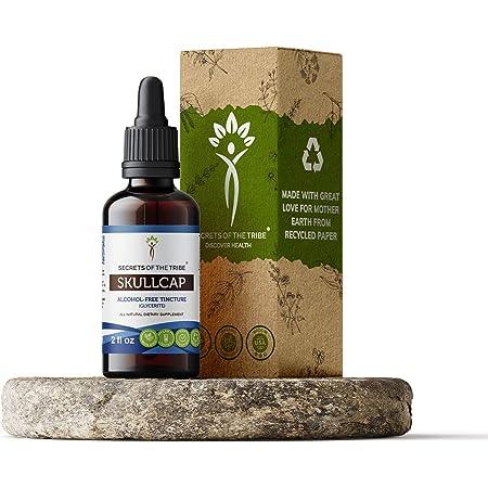 Skullcap Tincture Alcohol-Free Extract, Organic Skullcap Scutellaria lateriflora Calming Effect 2 oz