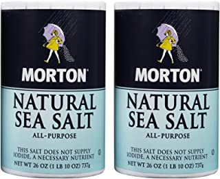 Morton Salt Natural Sea Salt - 26 oz - 2 Pack