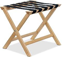 日本製 大川家具 バゲージラック luxe 高級銘木タモ無垢材使用 (ナチュラル)