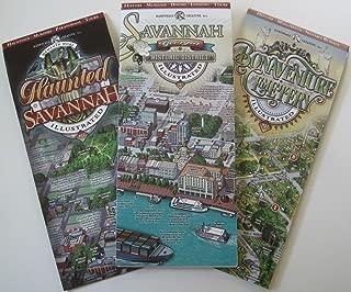 Savannah Visitor's Map Pack - Savannah Historic District, Haunted Savannah, Bonaventure Cemetery Illustrated Maps