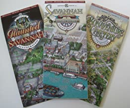 Savannah Visitor's Map Pack - Savannah Historic District, Haunted Savannah, Bonaventure Cemetery Illustrated Maps