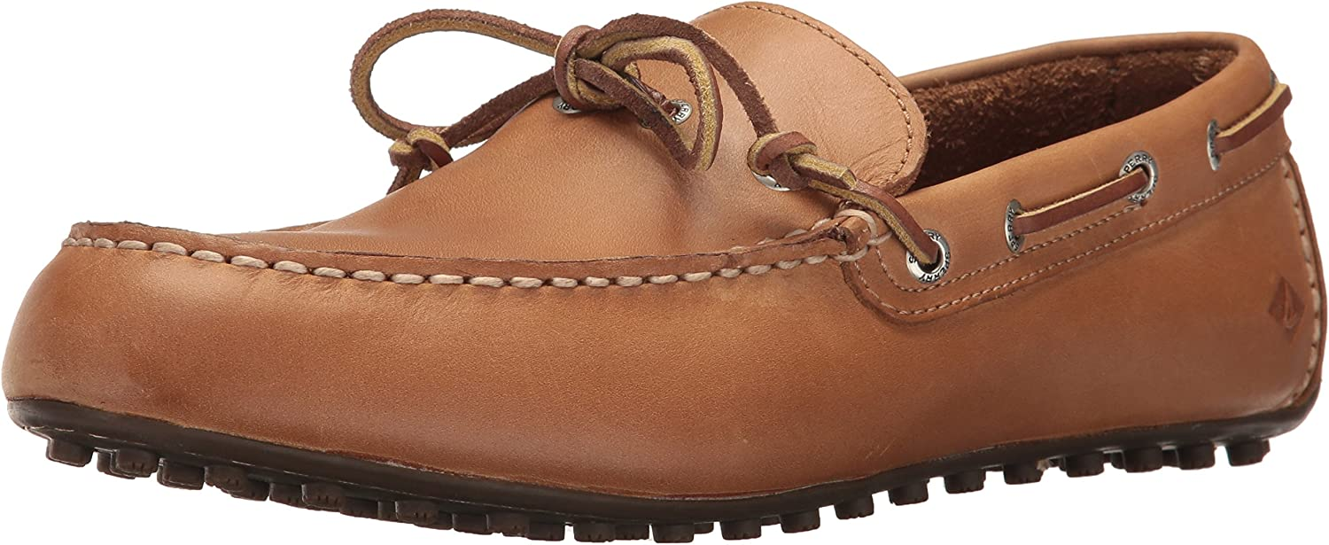 Sperry Top-Sider Men's Hamilton II 1-Eye Driving Style Loafer, Tan, 7.5 Medium US