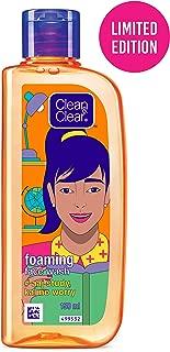 "Clean & Clear Face Wash – ""aaj Study, Kal No Worry"" (Foaming Facewash), Orange, 150 ml"