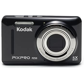 "Kodak PIXPRO Friendly Zoom FZ53-BK 16MP Digital Camera with 5X Optical Zoom and 2.7"" LCD Screen (Black)"