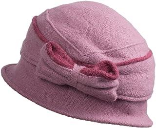 e198472fdcd Lawliet Two-Tone Womens Ladies 100% Wool Winter Warm Bow Bucket Cloche Hat  T177