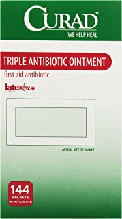 Medline Curad Triple Antibiotic Ointment, 144 Count