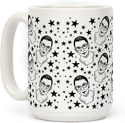 Ruth Bader Ginsburgホワイト15オンスセラミックコーヒーマグby LookHUMAN
