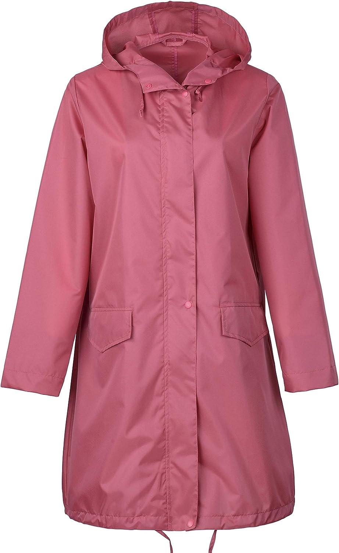 QZUnique Women's Special Beauty products price Packable Waterproof Raincoat Poncho Rain Jacket