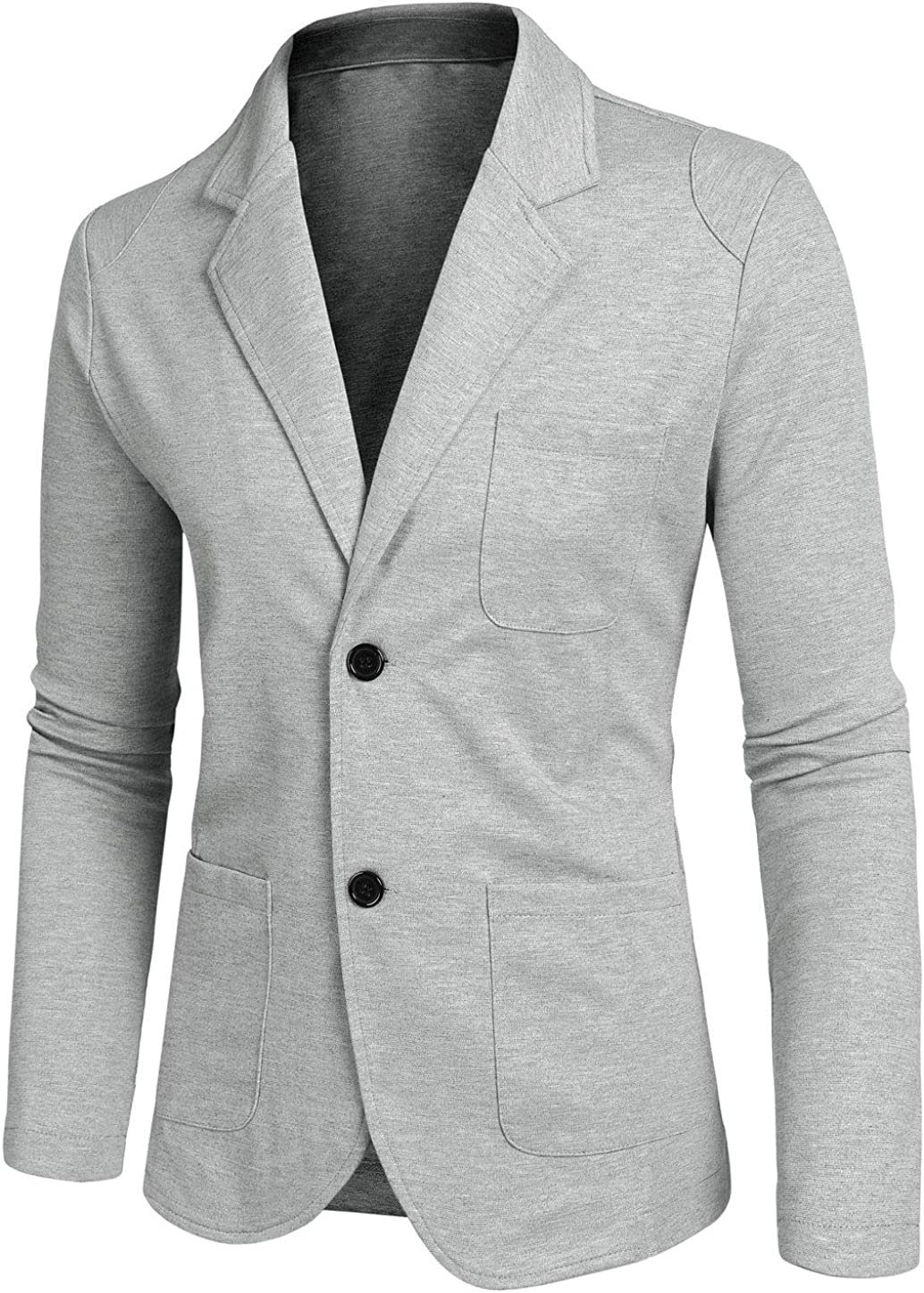 uxcell Ranking TOP18 Men's Casual Sports favorite Coat Lightweight Button Slim Fit Card