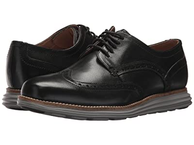 Cole Haan Original Grand Shortwing (Black Leather/Ironstone) Men