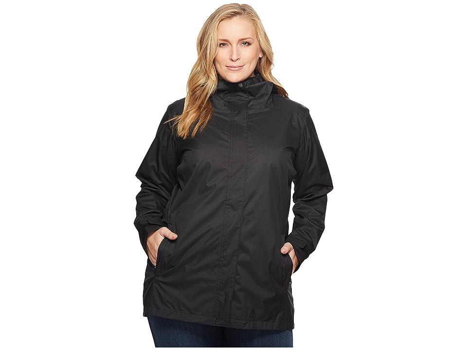 Columbia Plus Size Splash A Little II Rain Jacket (Black) Women