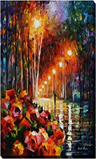 Picture Perfect International Giclee Stretched Wall Art by Leonid Afremov Park Flowers Artists-Canvas, 18