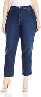 Women's Plus Size Amanda Classic Tapered Jean, Scottsdale Wash, 18W Short
