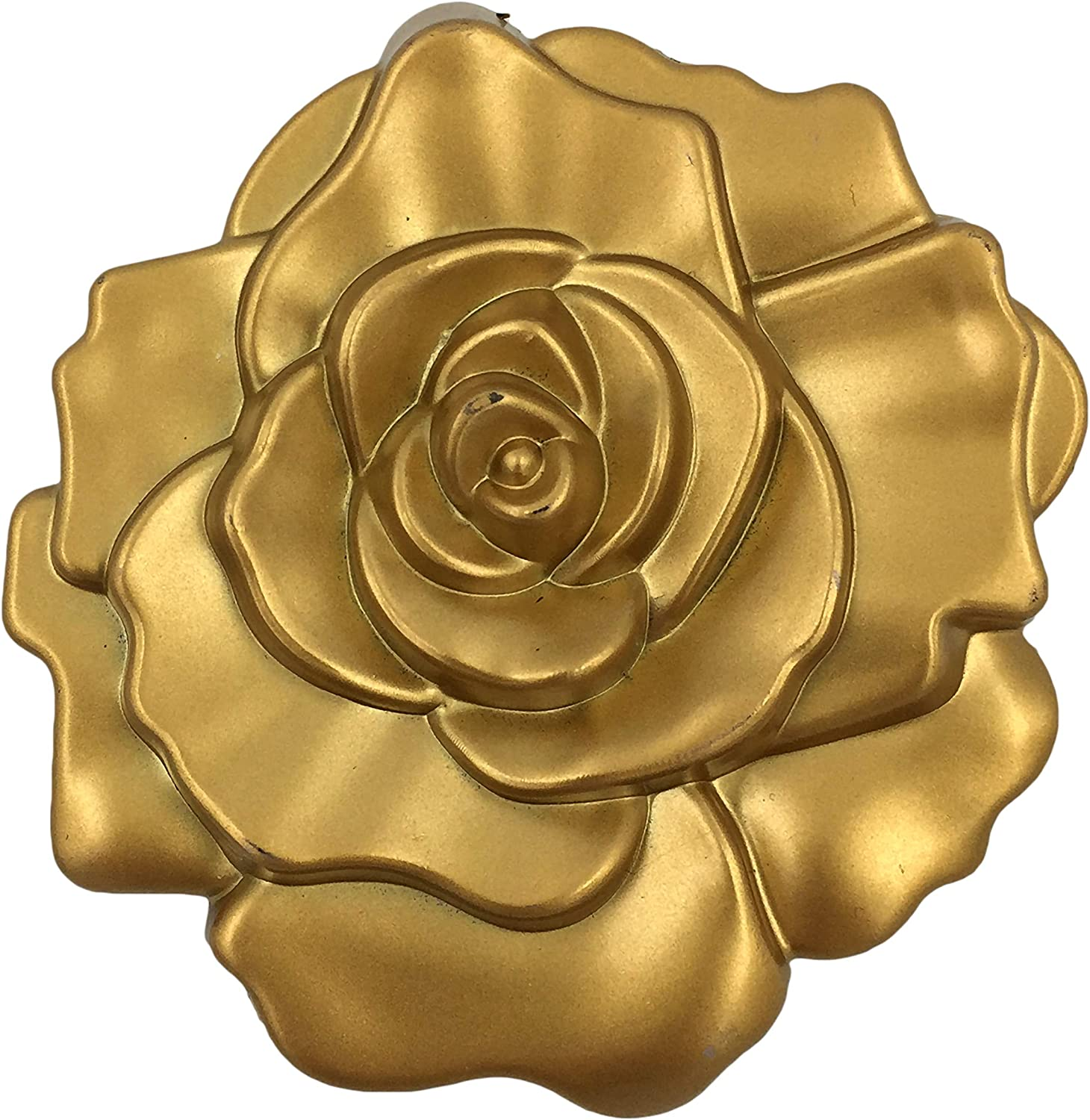 Max 71% OFF Selling FASHIONCRAFT 5969 Ornate Matte Gold Mirror Design Rose Compact