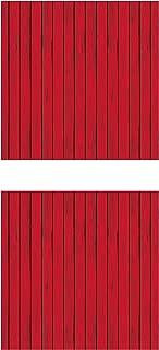 Beistle S52057AZ2, 2 Piece Red Barn Siding Backdrops, 4' x 30'