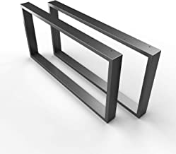sossai® stalen tafelvoet/salontafelvoet Basic | 2 stuks | Breedte 50 cm x hoogte 40 cm - tafellopers CKK1 | Kleur: antraci...