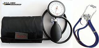 Tiga-Med Boso K 1 - Tensiómetro de brazo con estetoscopio de doble cabezal, color azul