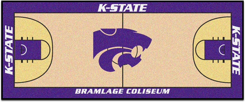 FANMATS 19511 Kansas State Basketball Court Runner, Team color, 30 x72