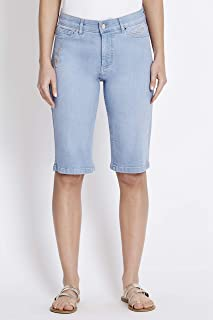 Rockmans Bright Wash Embroidered Short - Womens