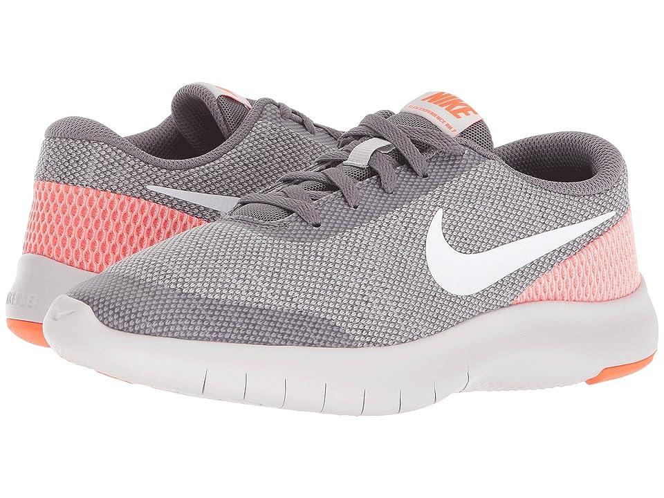 Nike Kids Flex Experience Run 7 (Big Kid) (Gunsmoke/White/Vast Grey/Total Crimson) Girls Shoes