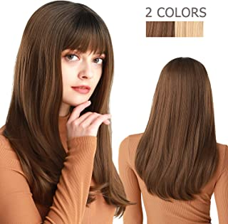 Long Straight Wigs with Bangs 22