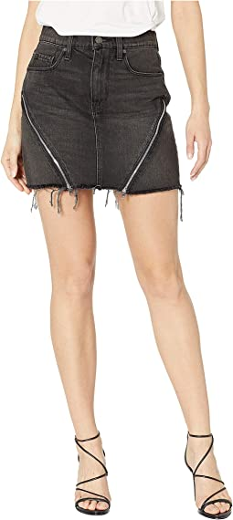 The Viper Mini Skirt in Void