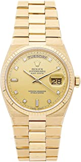 Rolex Oysterquartz Day Date Quartz (Battery) Champagne Dial Mens Watch 19018 (Certified Pre-Owned)