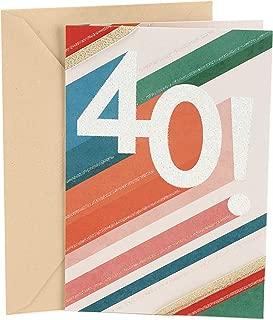 Hallmark 40th Birthday Card (Sparkle Stripes)