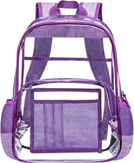 Heavy Duty Clear Backpack Transparent Bookbag See Through Backpack