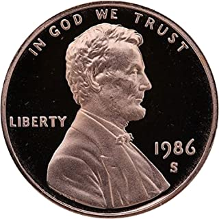1986 S Gem Proof Lincoln Memorial Cent Penny Proof US Mint
