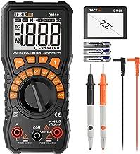 Multimeter, Tacklife DM08 Digital Multimeter, DC/AC Voltage Tester, DC/AC Current Measurement, Battery Voltage Detector, Non-Contact Voltage Detection, Continuity Detection, Resistors, Diodes