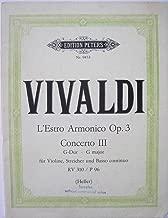 Concerto III L'Estro Armonico Op. 3 Nr. 3 in G Major RV 310/P 96 for Strings
