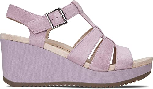 Vionic Wohommes Hoola Tawny Tawny T-Strap Wedge - Ladies Platform Sandal with Concealed Orthotic Arch Support Mauve Suede 9.5 M US  prix les plus bas
