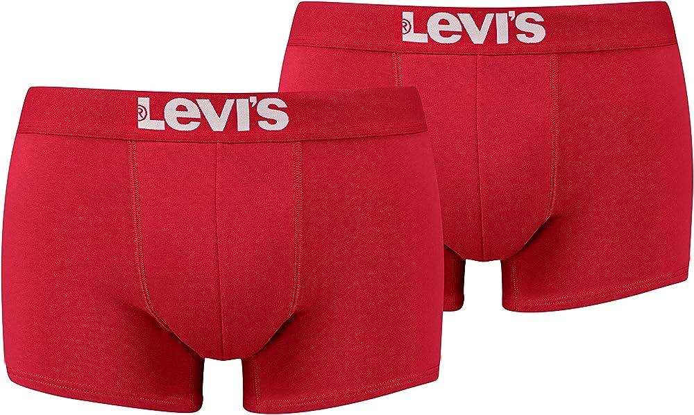 Levi`s,boxer a pantaloncino,per uomo,pacco da 2,in 95% cotone, 5% elastan 905002001