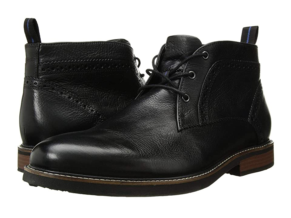 Nunn Bush Ozark Plain Toe Chukka Boot with KORE Walking Comfort Technology (Black Tumbled) Men